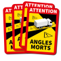 DodeHoek sticker Angles Morts (Set van 4 stickers)
