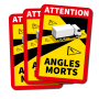DodeHoek sticker Angles Morts (Set van 3 stickers)